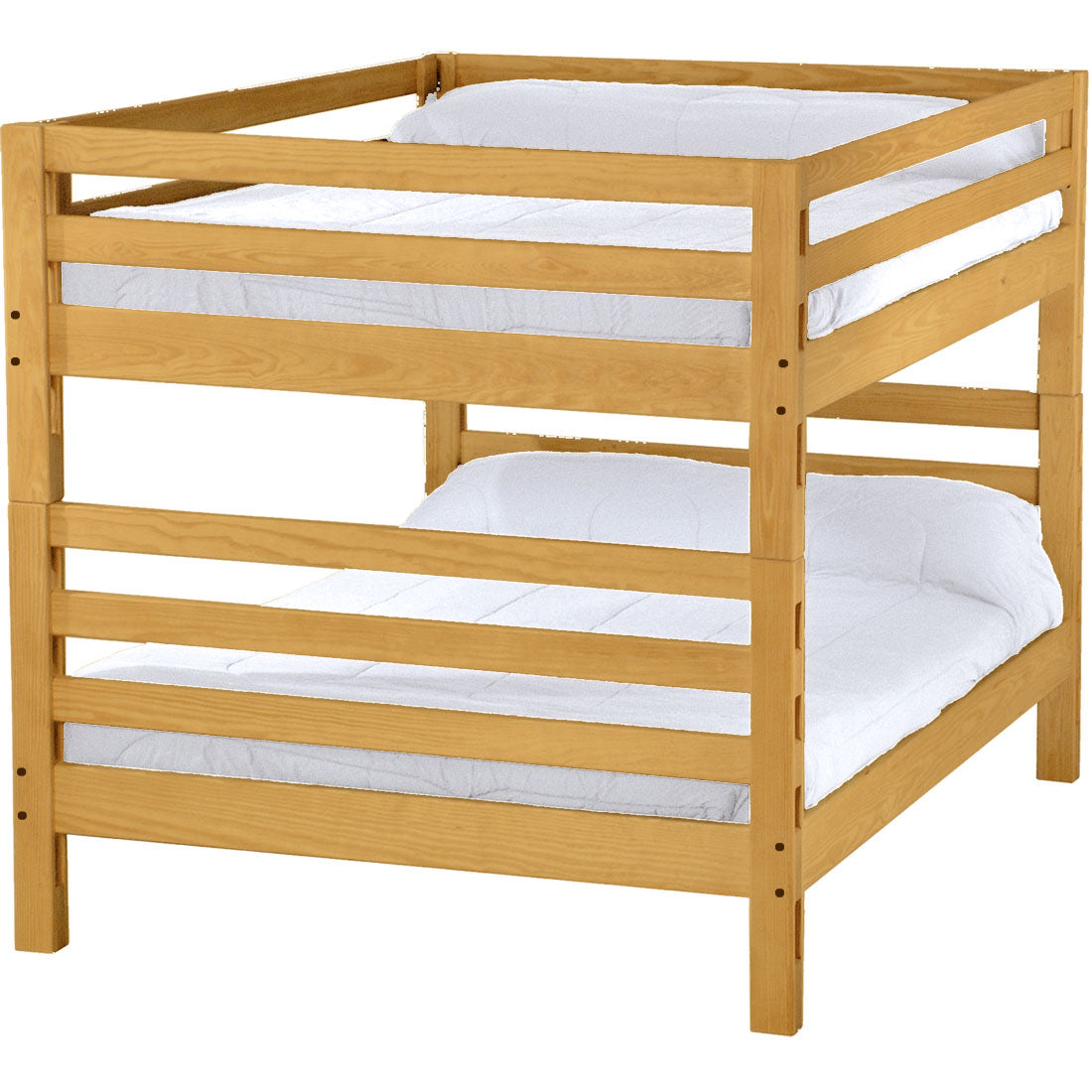 Picture of: Ladder End Bunk Bed Queen Over Queen Crate Designs Furniture