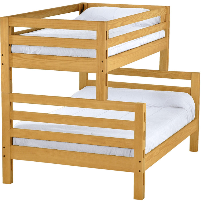 Ladder end bunk bed. Twin over full.