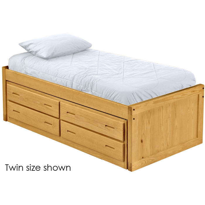 Captain's bed, low profile with drawer unit. Full size