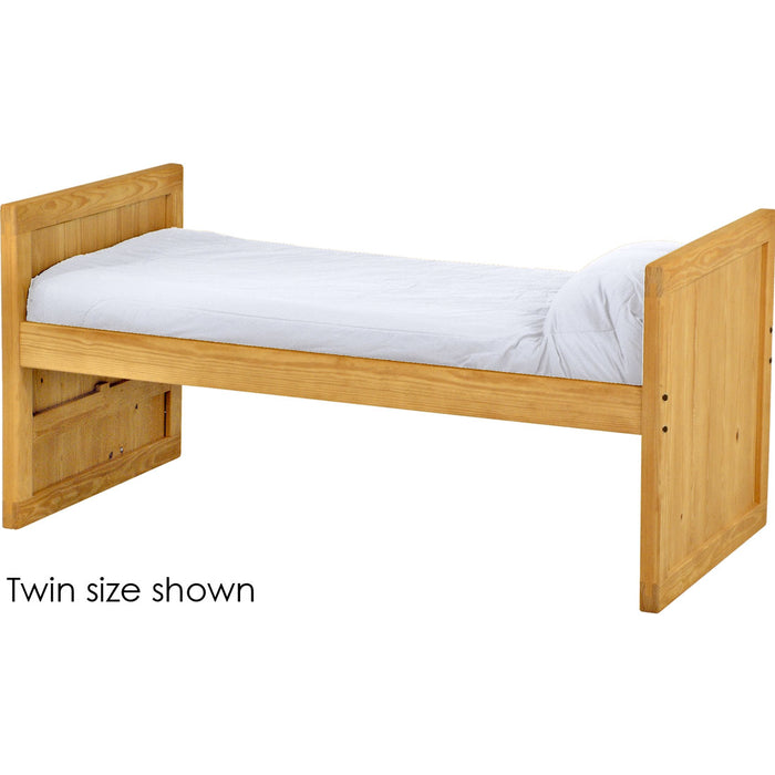 Captain's day bed, 39in headboard and footboard. King size