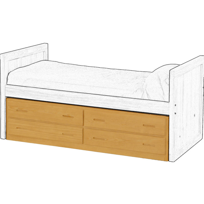4 drawer underbed unit