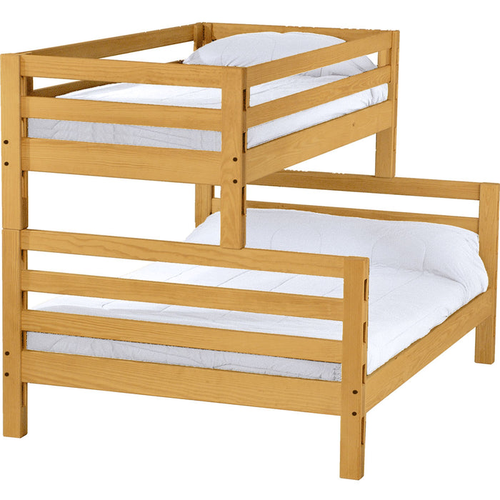 Ladder end bunk bed. TwinXL over queen.