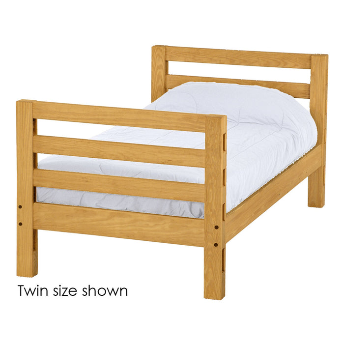 Ladder end lower bunk bed. Twin size.