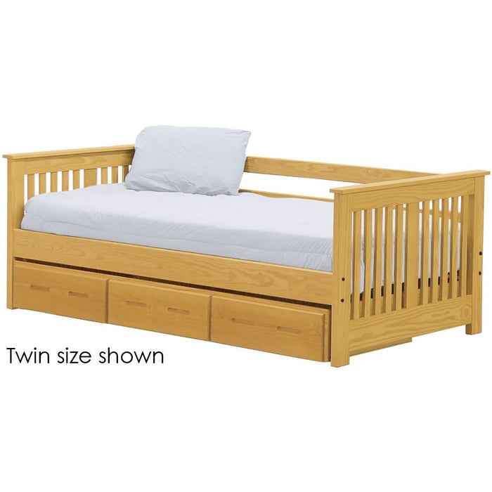 Shaker day bed with drawers. 29in high. Queen size.