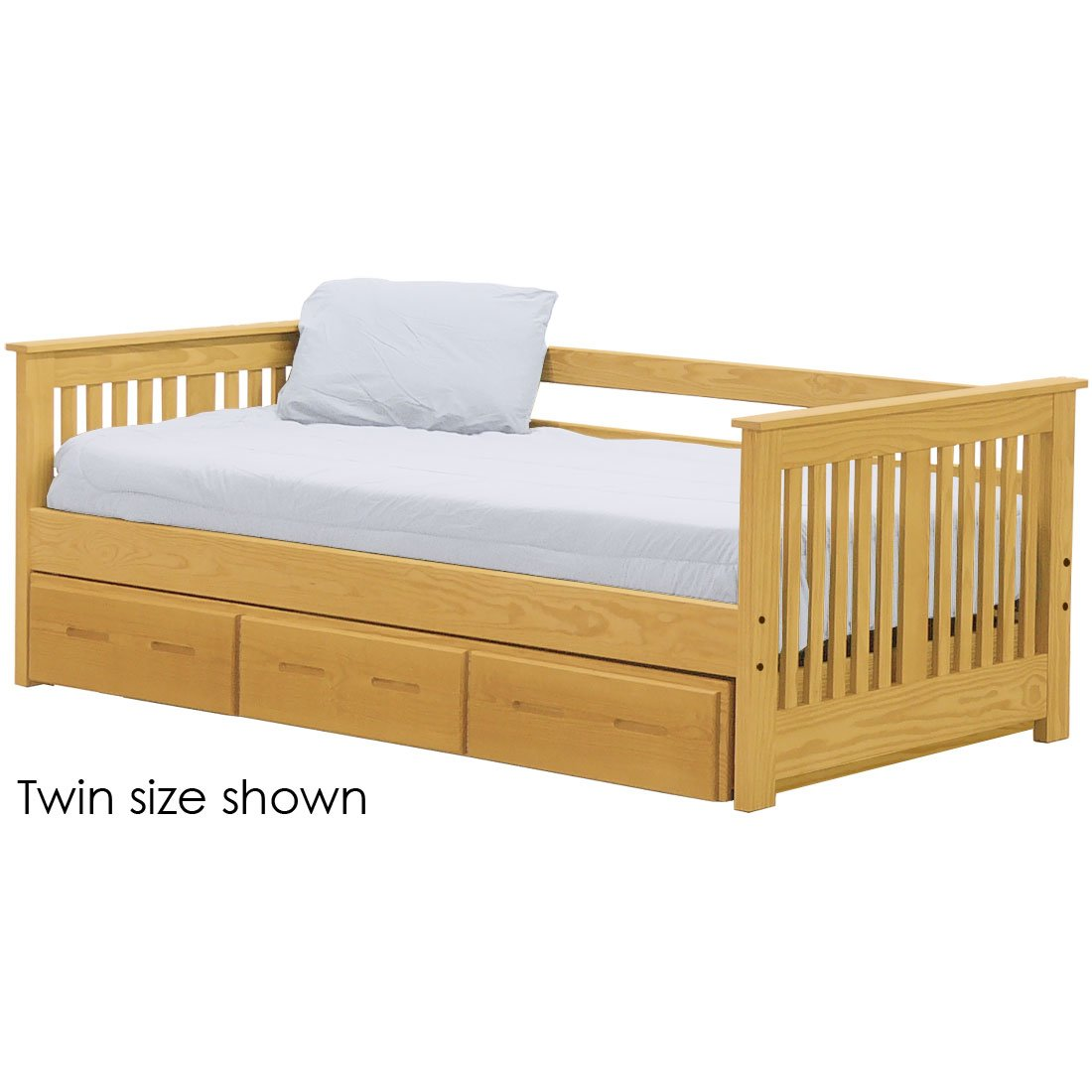 - Shaker Day Bed With Trundle. 29in High. Queen Size. – Crate