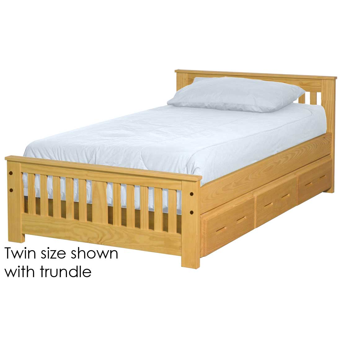 Picture of: Shaker Bed 29in Headboard 18in Footboard Queen Size Crate Designs Furniture