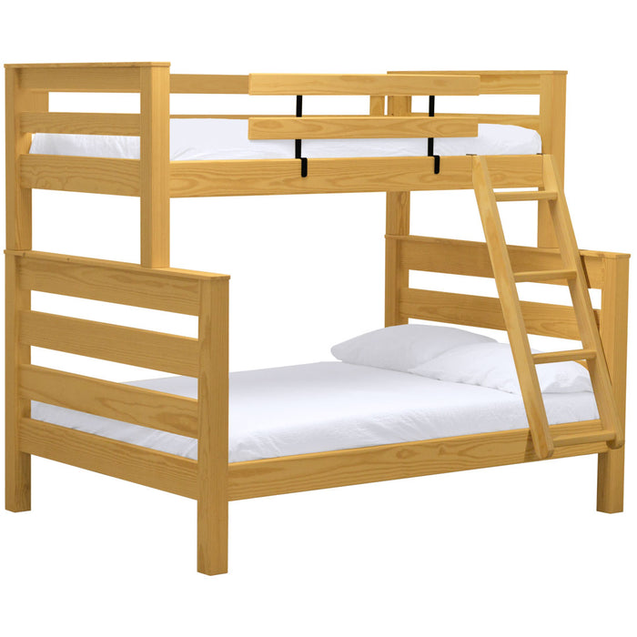 TimberFrame bunk bed. Twin over full with ladder.