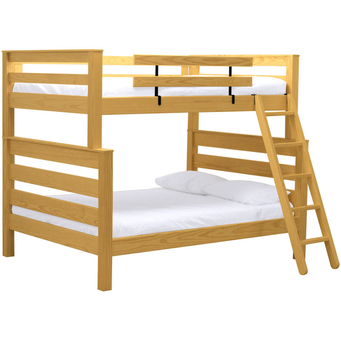 TimberFrame bunk bed. FullXL over queen with ladder.