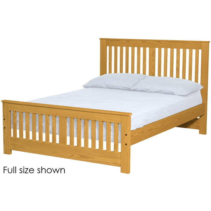 Shaker bed. 44in headboard, 22in footboard. Queen size.