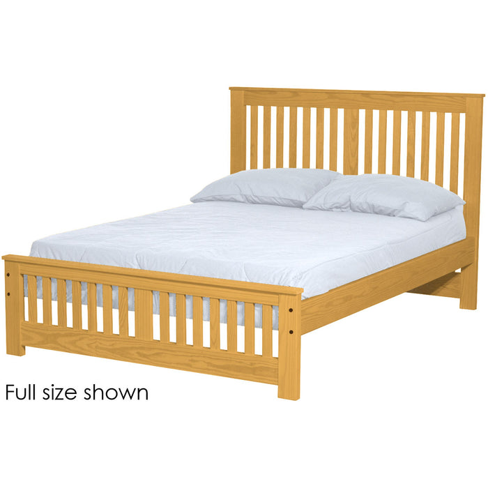 Shaker bed. 44in headboard, 18in footboard. Queen size.