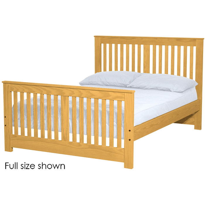 Shaker bed. 44in headboard, 29in footboard. Twin size.