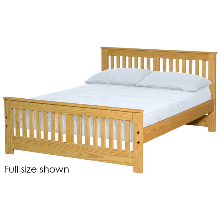 Shaker bed. 36in headboard, 22in footboard. Full size.