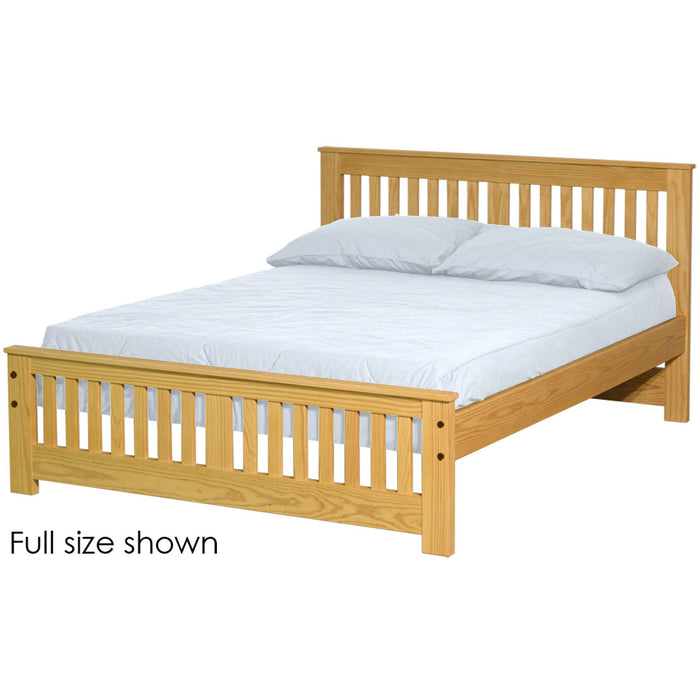 Shaker bed. 36in headboard, 18in footboard. Queen size.