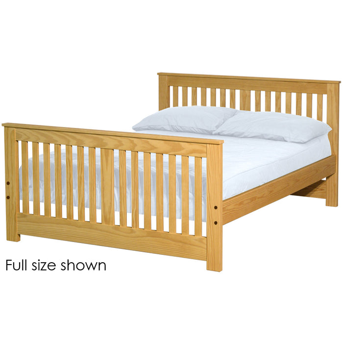 Shaker bed. 36in headboard, 29in footboard. Full size.