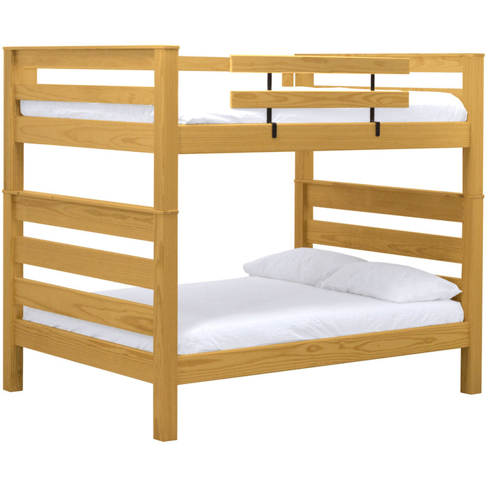 TimberFrame bunk bed. Queen over queen.
