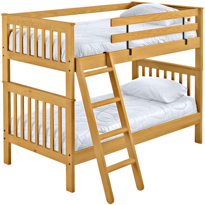 Mission bunk bed. Twin over twin.