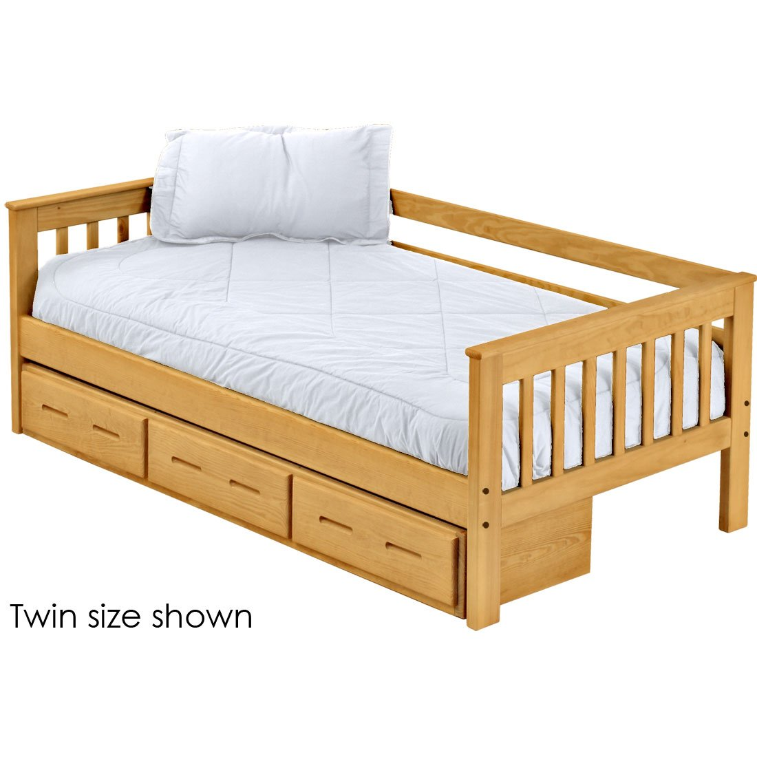 new arrivals 2ae64 10bc5 Mission day bed with drawers. 29in high. Twin size.
