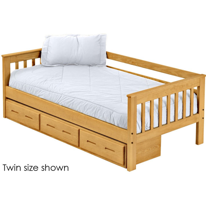 Mission Day Bed with Drawers. 29in High. Queen Size.