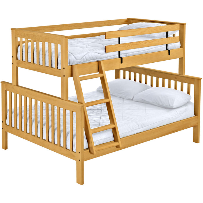 Mission bunk bed. TwinXL over queen, offset.