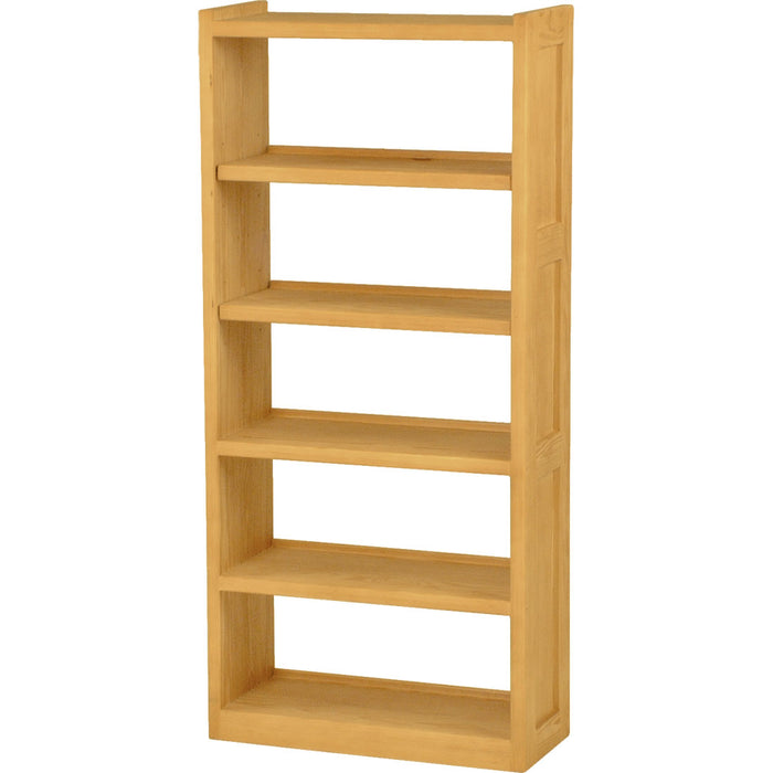 Bookcase, open back, 33in wide, 74in tall