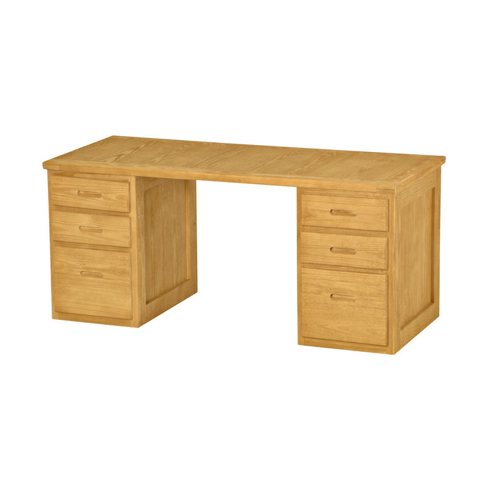 Desk, 66in, 3 drawers on each side