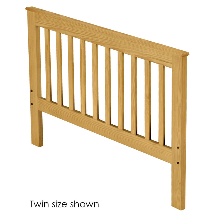 Headboard, Mission style, twin size. Choose from 6 colours & 3 heights.