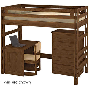 Ladder end loft bed. Twin size