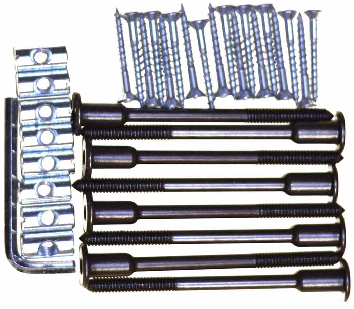Bed hardware kit. 100mm connector bolts.