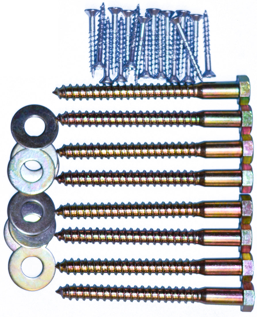 Bed Hardware Kit 4in Lag Bolts Crate Designs Furniture