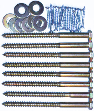 Bed hardware kit. 5 1/2in lag bolts.