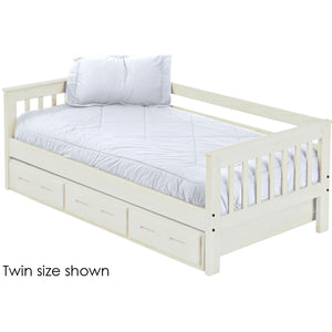 Mission Day Bed with Trundle. 29in High. Full Size.