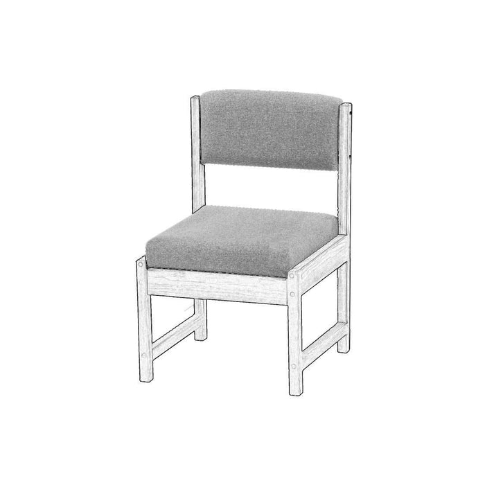Upholstered components for Dining side chair - Foundation fabric