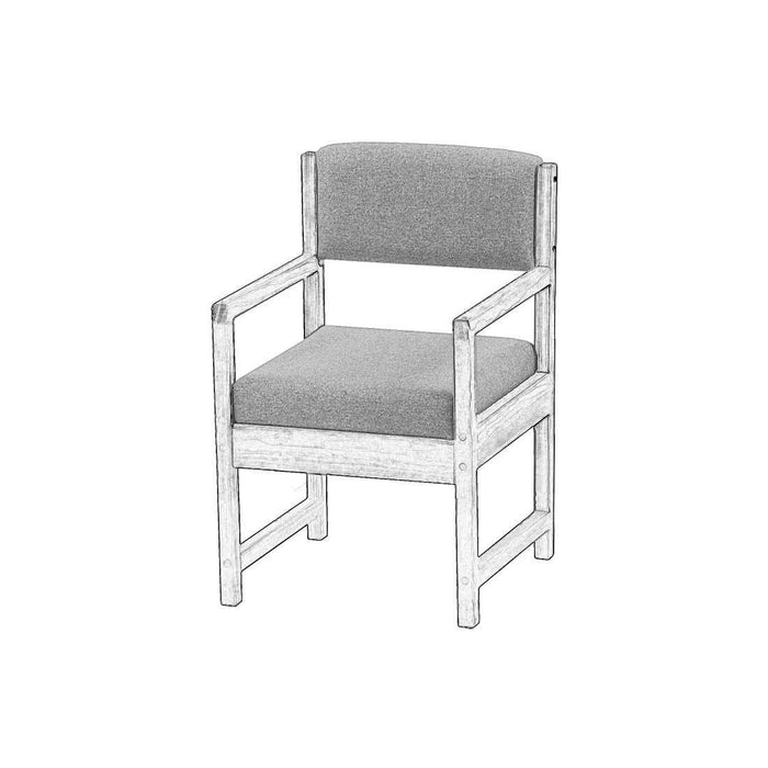 Upholstered components for Dining arm chair - Foundation fabric