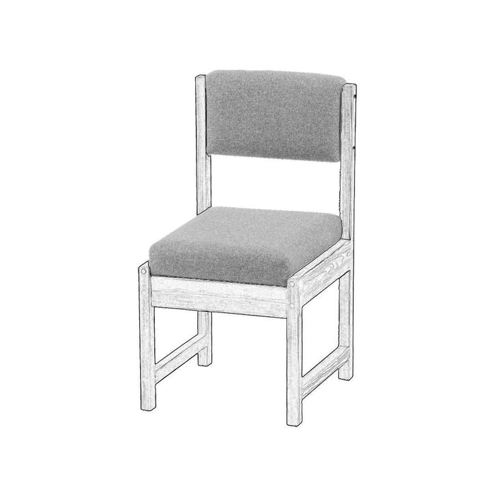 Upholstered components for Dining side chair, narrow - Foundation fabric