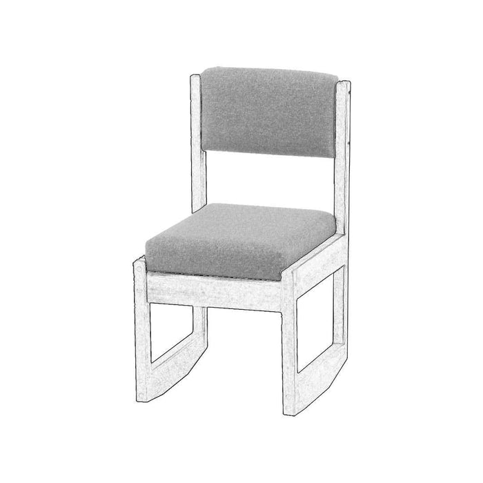 Upholstered components for 3 position chair - Foundation fabric