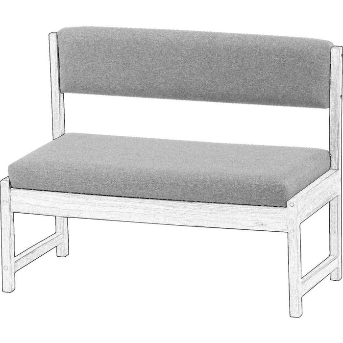 Upholstered Components for Bench with Back, 42in Wide - Foundation Fabric
