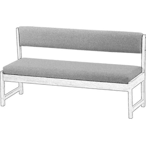 Upholstered Components for Bench with Back, 62in Wide - Crypton Influence Fabric