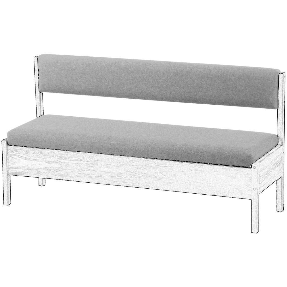 Upholstered Components for Storage Bench with Back - 10in Wide - Foundation  Fabric
