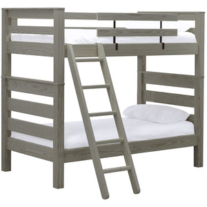 TimberFrame Bunk Bed. Twin Over Twin With Ladder.
