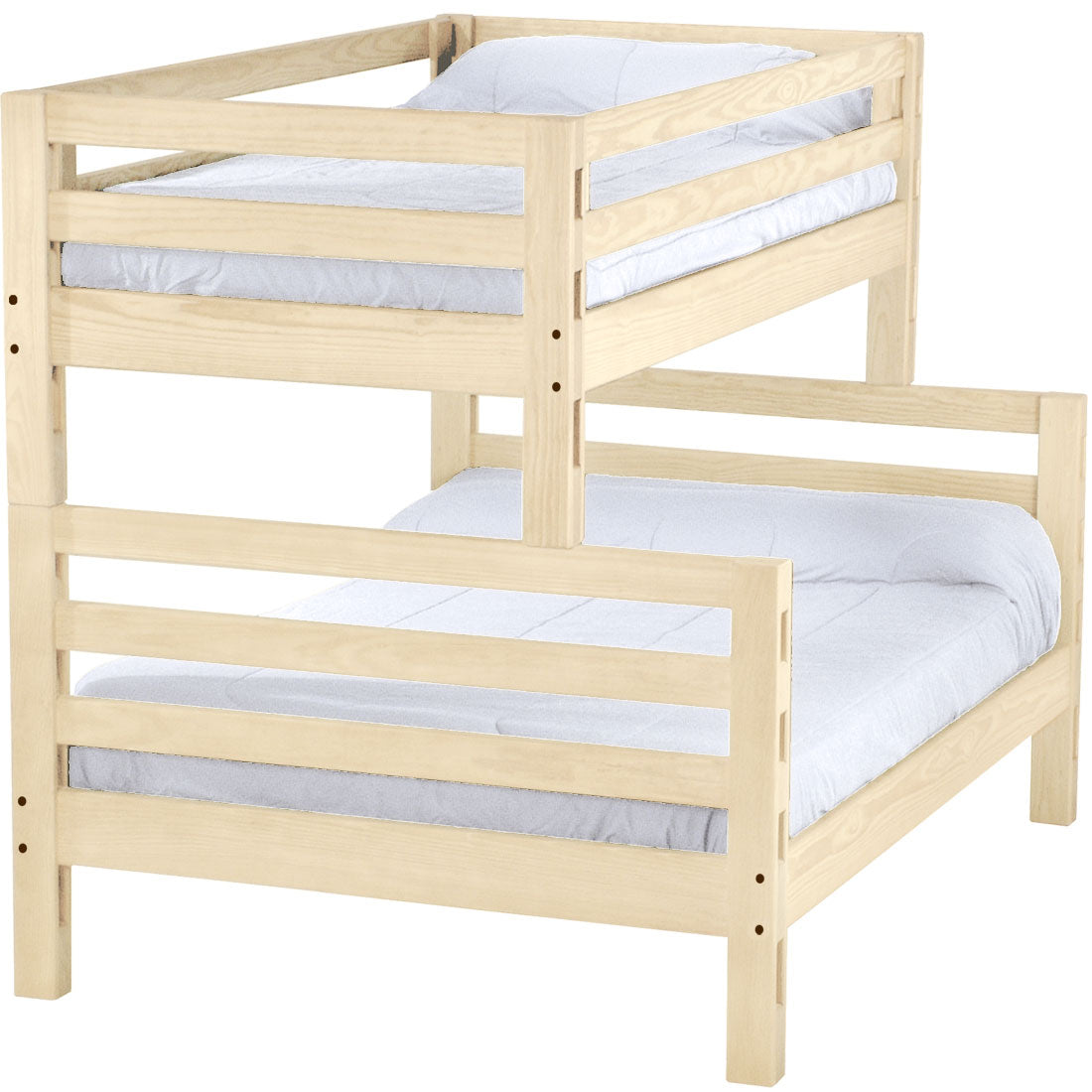 Ladder End Bunk Bed Twin Over Full Crate Designs Furniture