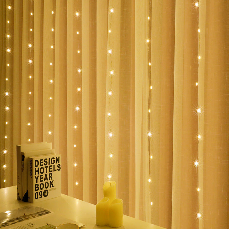 Curtain Lights 300 LED Window Fairy String Light