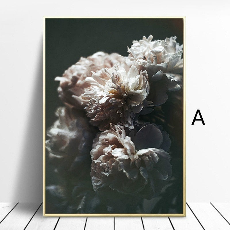 Nordic Style Flower Rose Canvas Painting