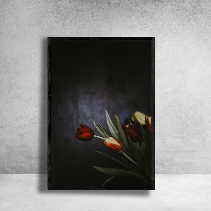Rose-Tulip-Canvas-Painting-Flower-Wall-Art-Picture-Artwork-Home-Decor
