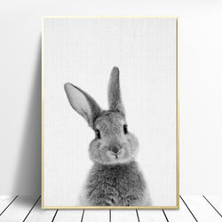 Nordic-Bunny-Painting,-Wall-Art,-Art-Prints,-Canvas-Art,-Home-Decor