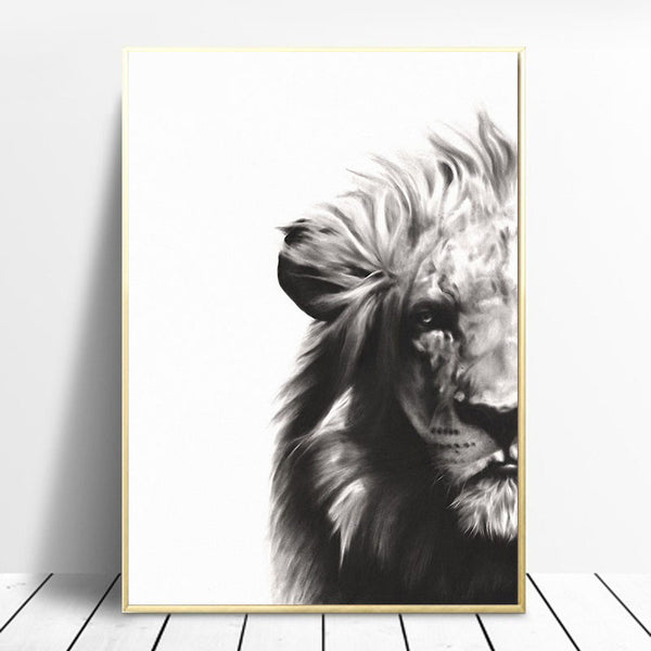 Nordic-Style-Animal-Canvas-Painting-Zebra-Lion-Rhino-Art-Home-Decor