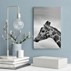 Animal-Canvas-Painting-Black-and-White-Giraffe-Wall-Art-Picture-Poster
