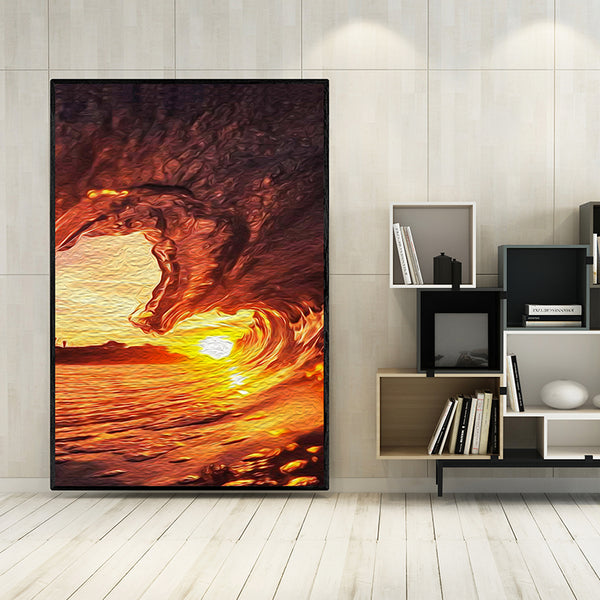 1pc-No-Frame-Sunrise-Oil-Painting-Surf-Wall-Poster-Artwork-Home-Decor