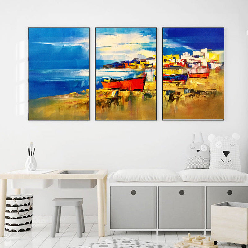 Boats-on-Sea-Beach-Wall-Art-Print-canvas-Painting-for-Livingroom-Decor
