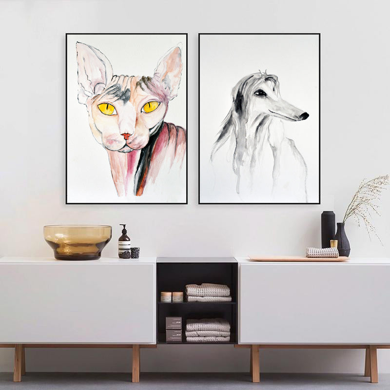 Animals-Canvas-Wall-Art-Prints-Watercolor-Painting-for-Home-Decor
