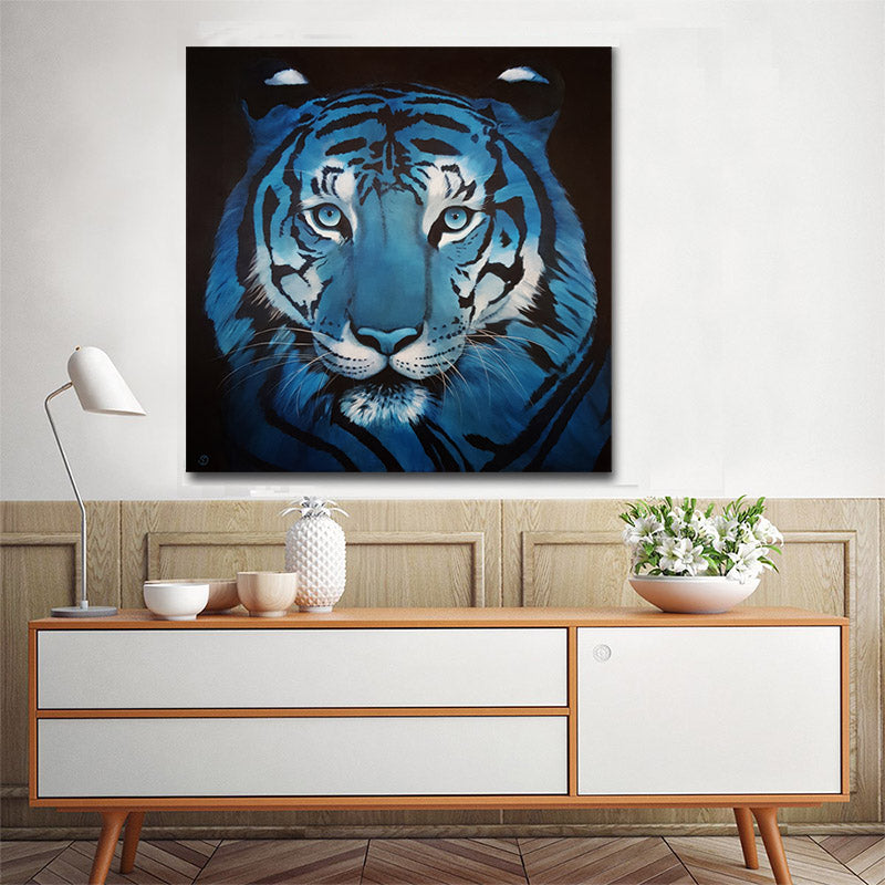 Animal Tiger Graffiti Wall Art Print for Home Decor